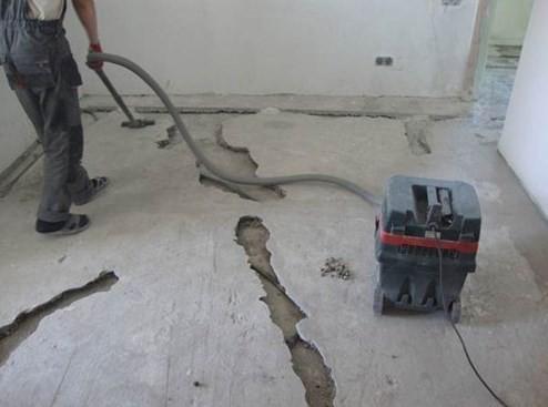 Демонтаж наливного пола - учимся снимать наливные полы правильно