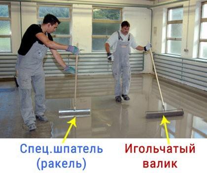 Игольчатый валик для наливного пола - назначение, применение, нюансы выбора